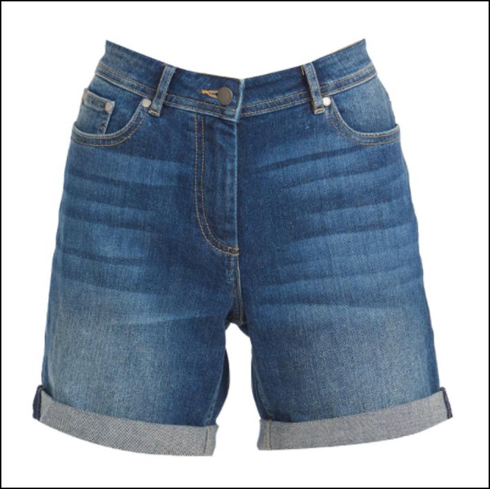 Barbour Maddison Ladies Denim Shorts Indigo 1