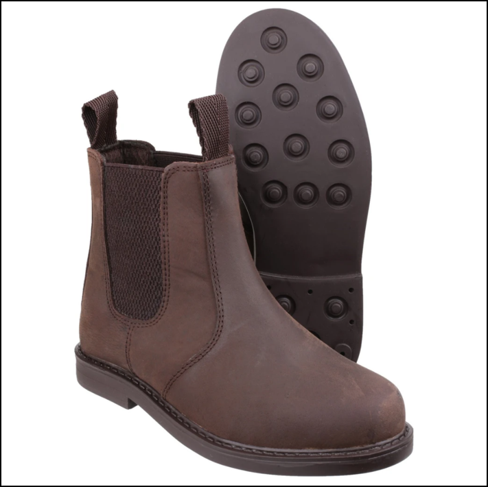 Cotswold Kids Camberwell Pull On Dealer Boots Brown 1