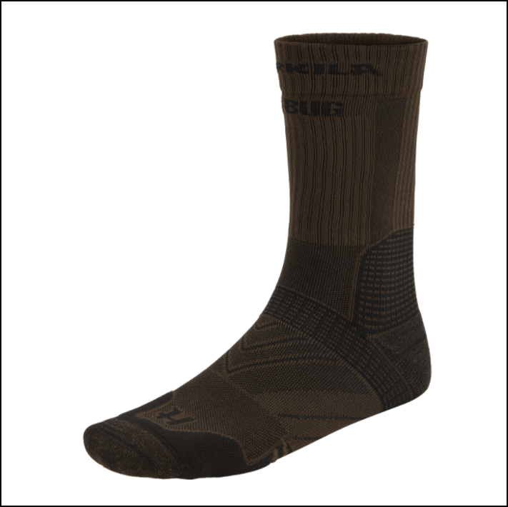 Harkila Anti-Bug Trail Socks Dark Olive 1