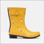 Joules Molly Mid Height Wellies Gold Ducks 1