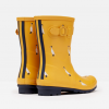 Joules Molly Mid Height Wellies Gold Ducks 2