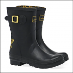 Joules Molly Mid Height Wellies Gold Etched Bee 1