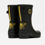 Joules Molly Mid Height Wellies Gold Etched Bee 2