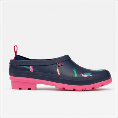 Joules Pop On Printed Welly Clogs Navy Veggies 1