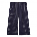 Joules Rebecca Woven Culottes French Navy Spot 1