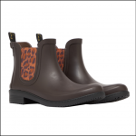 Joules Rutland Rubber Chelsea Boots Dark Brown 1