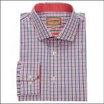 Schoffel Hebden Tailored Check Shirt Coral-Mykonos 1