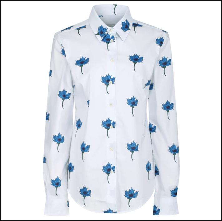 Schoffel Norfolk Ladies Shirt Cornflower Print 1