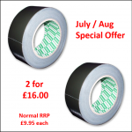 Directa 50M Black Performance Gaffa Tape - Assorted Widths Special