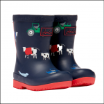Joules Baby Tall Printed Wellies Navy Animal
