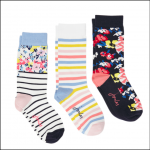 Joules Brilliant Bamboo Ladies Socks (3pk) St Ives Floral 1