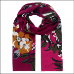 Joules Eco Conway Lightweight Scarf Berry Floral 1