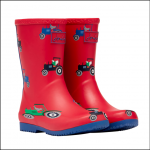 Joules Junior Roll Up Flexible Print Wellies Red Tractor 1