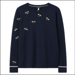 Joules Miranda Luxe Knitted Crew Neck Jumper Navy Bee 1