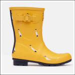 Joules Molly Mid Height Wellies Gold Ducks