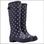Joules Tall Printed Wellies French Navy Spot 1