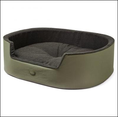 Le Chameau Padded Dog Bed Vert Chameau 1