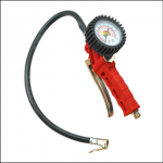 Sealey SA9302 Tyre Inflator Gauge with Clip-On Connector 1