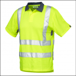 Veltuff Class 2 Hi-Vis Ribbed Knit Poloshirt Yellow 1