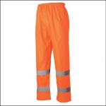 Veltuff Waterproof Hi-Vis Safety Trousers Orange 1