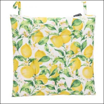 Ascalon Lemons Square Seat Cushion Pad