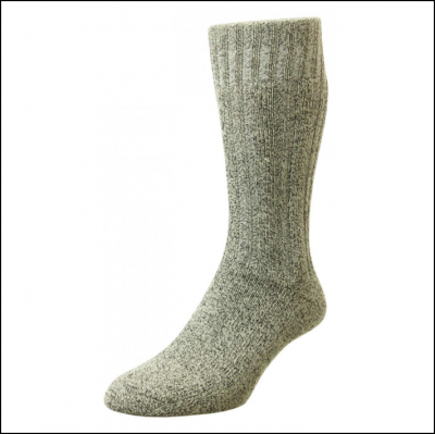 HJ Hall Cotton Rich Outdoor Boots Sock Grey 1