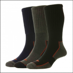 HJ Hall Long Cotton Comfort Top Work Socks (3 Pairs) 1
