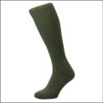 HJ Hall Men's Commando Wool Rich Work Boot Socks Olive 1
