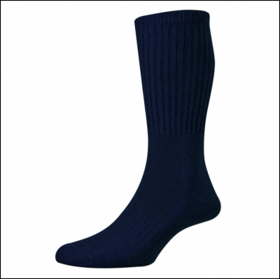 HJ Hall Men's Cotton Garden Socks Navy
