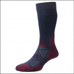 HJ Hall ProTrek Adventure Trek Socks Navy-Red Marl 1