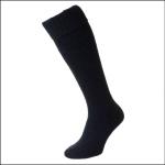 HJ Hall Wellington Boot Sock Navy Blue 1