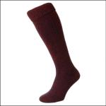 HJ Hall Wellington Boot Sock Red 1