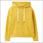 Joules Rowley Hooded Sweatshirt Yellow-Embroidered Bees 1