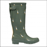 Joules Tall Printed Wellies Green Duck 1