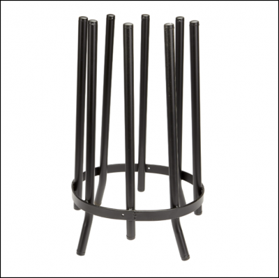 Portable Wellington Storage Carousel Black 1