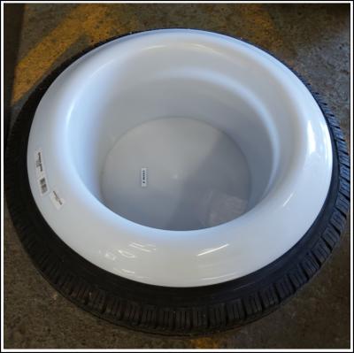 Saddlers White Tyre Bowl 1