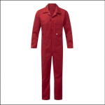 Castle Zip Front Polycotton Coveralls Red 1