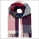 Joules Farah Check Scarf Cream-Pink Check 1