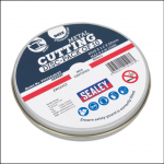 Sealey PTC11510CET 115 x 1.2mm Metal Cutting Discs Pack of 10 1
