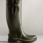 Hunter Men's Balmoral Adjustable 3mm Neoprene Wellington Boots Dark Olive 1
