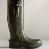 Hunter Unisex Balmoral Classic Side Adjustable Wellington Boots Dark Olive 2