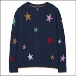 Joules Chantelle Intarsia Jumper Navy Star 1