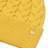 Joules Elena Cable Knit Hat Antique Gold 2