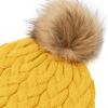Joules Elena Cable Knit Hat Antique Gold 3