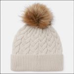 Joules Elena Cable Knit Hat Cream 1
