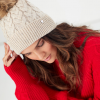 Joules Elena Cable Knit Hat Cream 2