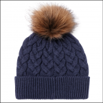 Joules Elena Cable Knit Hat French Navy 1