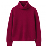 Joules Halton Knitted Turtle Neck Jumper Berry Blush 1