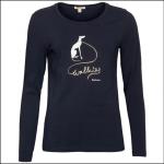 Barbour Homeswood Ladies LS Tee Shirt Dark Navy 1