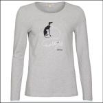 Barbour Homeswood Ladies LS Tee Shirt Light Grey Marl 1
